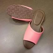 《台灣製》PP繽紛室內皮革拖鞋蜜粉(26cm)