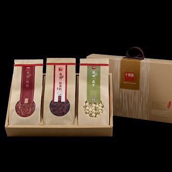 十翼饌 鴻運連連養生禮盒(台灣紅棗260g+蓮子380g+枸杞340g)(一組)
