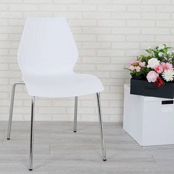 《Homelike》海曼造型餐椅(時尚白)