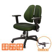 《GXG》人體工學 雙背椅 (摺疊升降扶手) TW-2991 E1(請備註顏色)