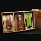 《十翼饌》喜迎春山海珍味絕品禮盒x1(新社香菇100g+北海道干貝100g+北海道昆布80g)(三盒)