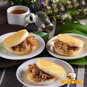 《極鮮配》營養滿分 喜生米漢堡 (3入/包)(C.豬寶貝3入組-和風豬肉/洋蔥豬肉/黑胡椒豬肉-1包入)