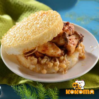 極鮮配 營養滿分 喜生米漢堡 (3入/包)(F.素沙茶鮮菇米堡3入組-1包入)