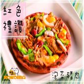 《極鮮配》6.5吋彩色pizza披薩 (180g/包)  多種口味 任選(泡菜豬肉-1包入)