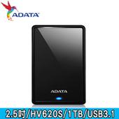 《ADATA 威剛》HV620S 1TB USB3.1 2.5吋行動硬碟(黑色)