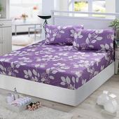 純棉加大床包+枕套三件組-香榭
