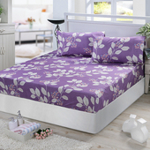 《Victoria》純棉雙人床包+枕套三件組-香榭(5*6.2尺)