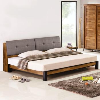 《Homelike》洛基工業風床架組(含床頭箱)-雙人加大6尺