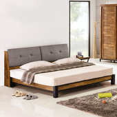 《Homelike》洛基工業風床架組(含床頭箱)-雙人5尺