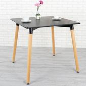 《Homelike》貝絲特北歐風餐桌(沉穩黑)