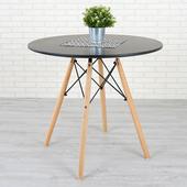 《Homelike》菲爾造型圓桌(沉穩黑)