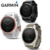 《Garmin》Fenix 5S 藍寶石版本 進階複合式戶外GPS腕錶 三鐵錶時尚黑 $22990