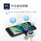 《HANLIN》BT04 正版(4.0雙耳立體聲)迷你藍牙 藍芽耳機- (贈水鑽款+專利耳掛)微型(白)