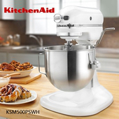 《KitchenAid》PRO500 Series 5QT 升降式攪拌機 Stand Mixer KSM500 紅色/白色(白色)