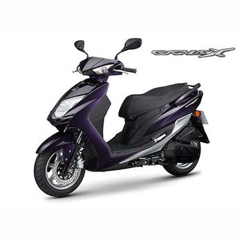 YAMAHA山葉 新勁戰CygnusX FI 125雙碟-日行燈版-2018年新車(深紫灰)