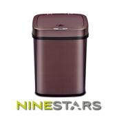 《NINESTARS》感應式掀蓋垃圾桶12公升 DZT-12-5 / 酒紅金