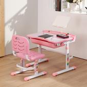 邏爵 清新活力升降學習桌椅 寫字桌椅 電腦桌椅 學生桌椅 成長桌椅 粉紅色 023(粉紅色)