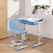 邏爵 清新活力升降學習桌椅 寫字桌椅 電腦桌椅 學生桌椅 成長桌椅 藍色 023(藍色)