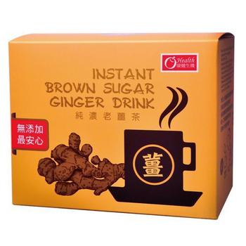 《康健生機》純濃黑糖老薑茶(20g*10入/盒)(6盒組)