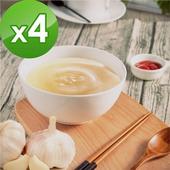 《御田》頂級黑羽土雞精品熬製蒜香 雞高湯(500g/包)(X4件組)