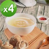 《御田》頂級黑羽土雞精品熬製鮮菇 雞高湯(500g/包)(X4件組)