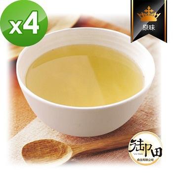 《御田》頂級黑羽土雞精品熬製原味鮮蔬 雞高湯(500g/包)(X4件組)