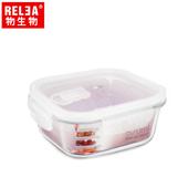 《香港RELEA物生物》正方形耐熱玻璃微波保鮮盒(800ml)