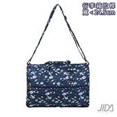 《韓版》多彩繽紛大容量收納款防潑水行李袋(深藍)