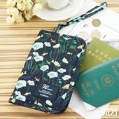 《韓版》多彩繽紛隨身收納手提小包/護照包(深藍)懸掛式多用途網格收納袋