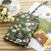 《韓版》多彩繽紛隨身收納手提小包/護照包(咖啡)懸掛式多用途網格收納袋