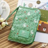 《韓版》多彩繽紛隨身收納手提小包/護照包(綠色)懸掛式多用途網格收納袋