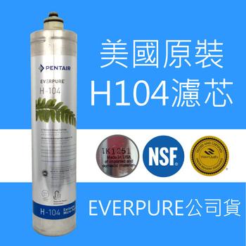 EVERPURE PENTAIR EVERPURE Pentair 濾心 H-104 美國原裝公司貨 有雷射標籤 H104 濾芯