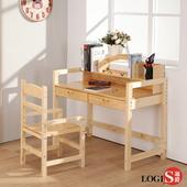 LOGIS大地實木成長桌椅組120X50CM 書桌椅 學習桌椅 兒童桌椅 學生桌椅 CB120(實木)