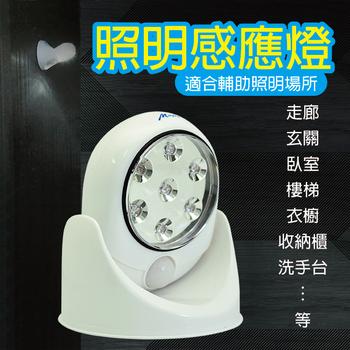 明家 GN-7001 人體感應燈 任意360度旋轉照明 1入
