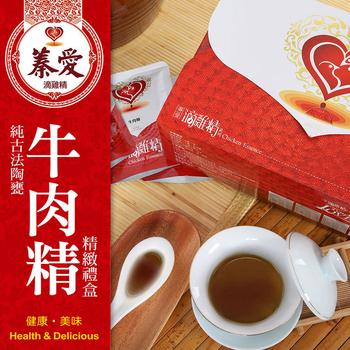 蓁愛 純古法陶甕 牛肉精禮盒(80mlx10包/盒)(X1盒)