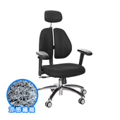 《GXG》涼感纖維 雙背椅 (鋁腳/升降滑面扶手) TW-2983LUA6(請備註顏色)