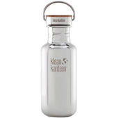 《美國Klean Kanteen》竹片不鏽鋼瓶-鏡面鋼(K18SSLRF-MS) 18oz/532ml