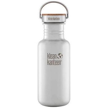 《美國Klean Kanteen》竹片不鏽鋼瓶-霧面鋼(K18SSLRF-BS) 18oz/532ml