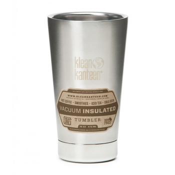 《美國Klean Kanteen》不鏽鋼雙層保溫杯-鋼色(K16VSSC-BS) 473ml
