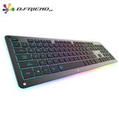 《B.FRIEND》GK5剪刀腳有線遊戲鍵盤(RGB)(黑)