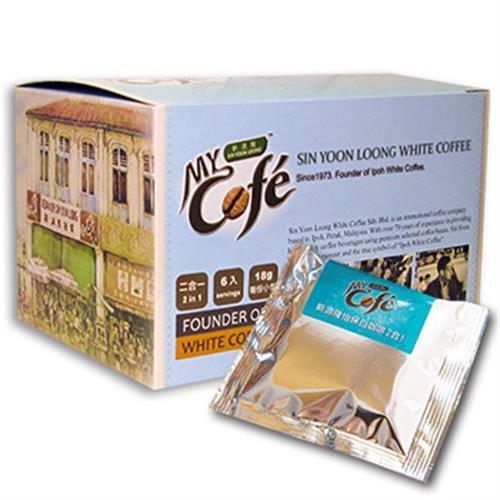 新源隆 無糖二合一怡保白咖啡(18gX6包/盒)