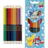 《精靈寶可夢》24色紙盒水性色鉛筆