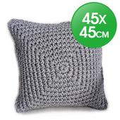 編織抱枕套45x45cm(灰色)