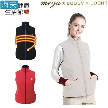 《海夫健康生活館》MEGA COOHT 3M 日本 女用 電熱 加熱 背心 (HT-F701)(卡其色 S)