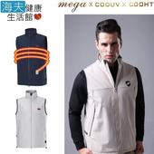 《海夫健康生活館》MEGA COOHT 3M 日本 男用 電熱 加熱 背心 (HT-M701)(深藍色 S)