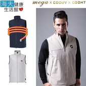 《海夫健康生活館》MEGA COOHT 3M 日本 男用 電熱 加熱 背心 (HT-M701)(黑色 S)
