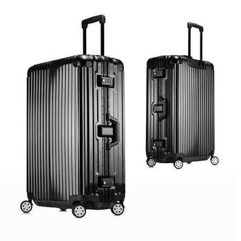 《勝利者》時尚經典26吋鋁框PC鏡面行李箱(買一送二超划算)(黑)