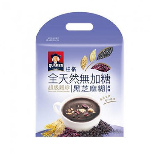 桂格 全天然超級穀珍(黑芝麻糊風味-23.5Gx10入)