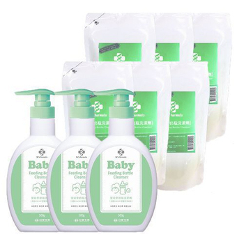 《台塑生醫》嬰幼童奶瓶洗潔劑促銷組(3瓶+6包)