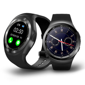 《u-ta》圓款時尚觸控智慧手錶W9(公司貨)(曜石黑)